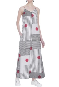 stripe-polka-dot-printed-jumpsuit