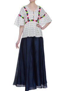 ruffle-blouse-with-multicolored-lace-embroidery