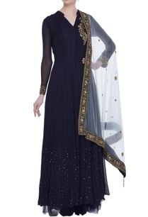 embroidered-anarkali-with-net-skirt-dupatta