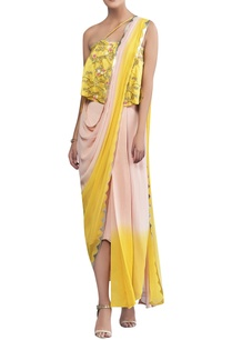 ombre-silk-draped-sari
