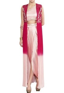 one-shoulder-top-with-draped-skirt-ombre-cape