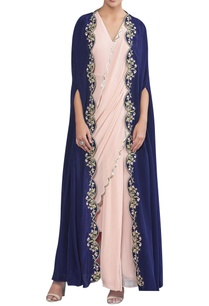 draped-sari-with-embroidered-cape