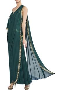 offshoulder-draped-sari