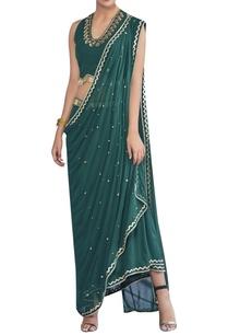asymmetric-sari-with-halter-neck-blouse