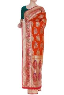 kalamkari-banarasi-silk-sari-with-unstitched-blouse