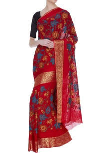 banarasi-georgette-sari-with-unstitched-blouse