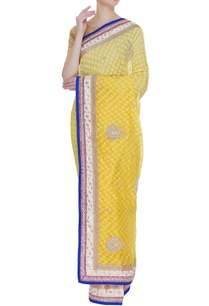 dual-shaded-kota-stonework-embroidered-sari-unstitched-blouse
