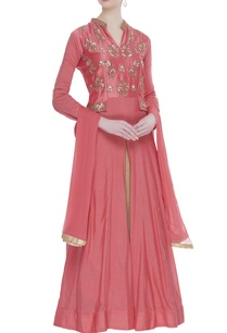 chanderi-gota-embroidered-jacket-lehenga-set