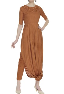 cowl-pleated-embroidered-tunic-with-pants