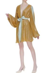 woven-sequin-wrap-style-mini-dress