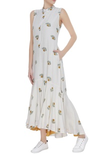 floral-printed-midi-dress-with-gathered-detail