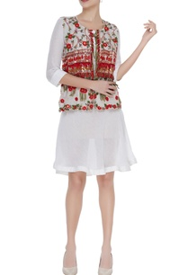 short-dress-with-hand-embroidered-jacket