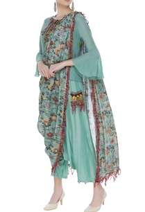 blouse-with-pants-printed-draped-dupatta