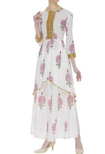 floral-block-printed-asymmetric-kurta-set