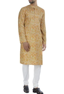 mosaic-printed-kurta-with-churidar