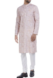 cotton-silk-printed-kurta-with-churidar