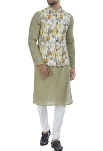 artistic-lily-floral-printed-nehru-jacket