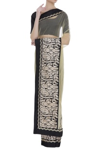 sheer-net-embroidered-border-sari-with-unstitched-blouse