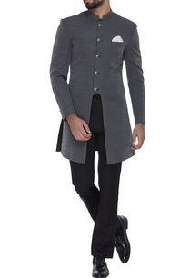 asymmetric-grey-silk-sherwani