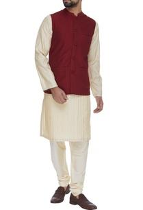 criss-cross-textured-waistcoat