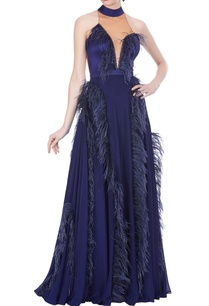 hand-embroidered-feather-gown
