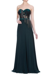 hand-embroidered-stretch-tube-gown-with-ball-chain-detail
