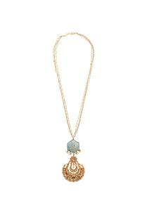 firoza-kundan-chandbali-necklace