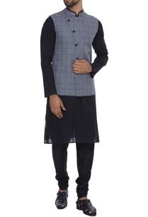 cotton-silk-checkered-jacket