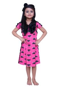 cat-printed-dress-with-bow-detail
