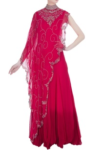 attached-cape-with-anarkali-set