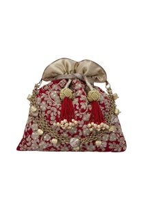 floral-haze-maroon-red-potli-with-gold-dori-work