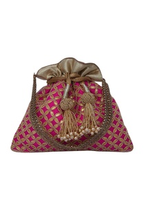 pink-potli-bag-hand-embroidered-with-gota-patti