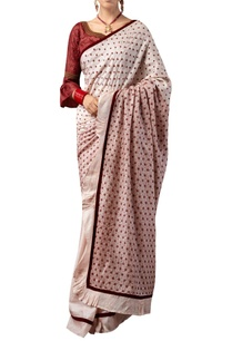 star-motif-embroidered-sari-with-ruffle-sleeves-blouse