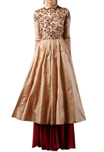 embroidered-anarkali-kurta-with-skirt
