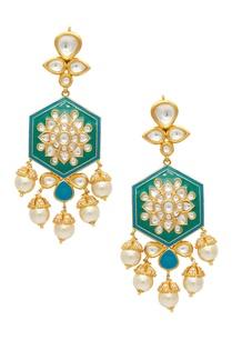 kundan-pearl-drop-earrings