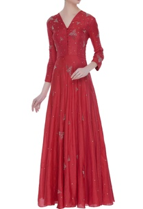 flared-embroidered-floor-length-gown