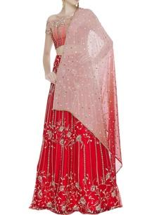 raw-silk-zari-pearl-embroidered-lehenga-set