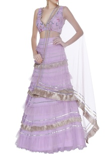 ruffled-and-gota-embroidered-lehenga-set