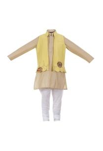 scallop-border-open-jacket-with-kurta