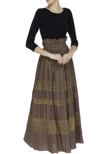 kota-silk-khadi-pleated-maxi-skirt