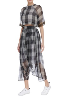 kota-silk-checkered-draped-pants