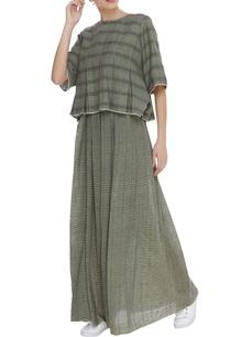 gathered-waist-maxi-skirt