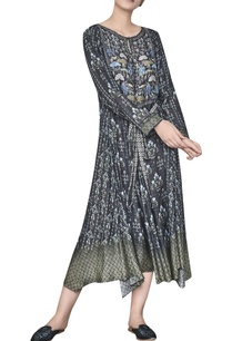 flared-deer-elephant-forest-printed-long-tunic