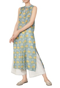 hand-block-forest-inspired-elephant-printed-kurta