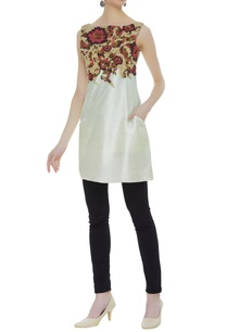 raw-silk-embroidered-short-tunic