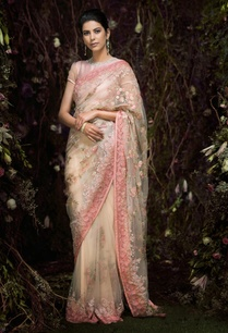 tulle-floral-sequin-bugle-bead-sari-with-blouse