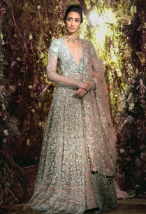 sequin-tulle-jacket-with-floral-applique-lehenga