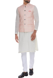 checkered-print-nehru-jacket