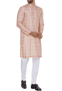 vintage-coin-printed-kurta-set