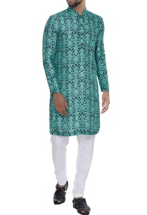 french-block-print-kurta-with-churidar